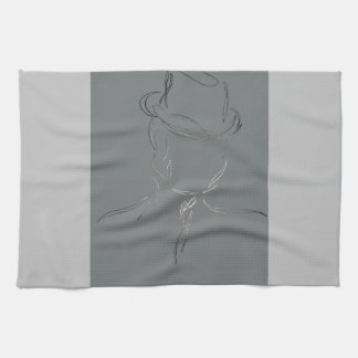 Man in a Hat 2 - CricketDiane Abstract Art Hand Towel