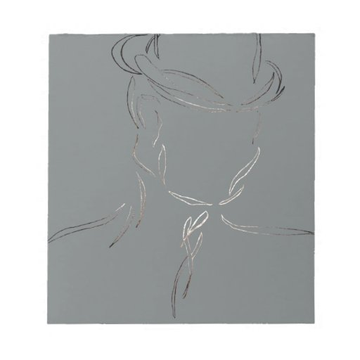 Man in a Hat 2 - CricketDiane Abstract Art Memo Note Pads