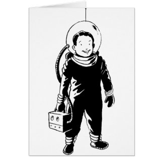 Man In A Spacesuit Greeting Cards