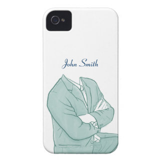 Man in a Suit Drawing iPhone 4 Case