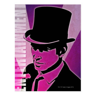 Man in a Top Hat Postcard
