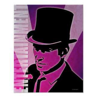 Man in a Top Hat Poster