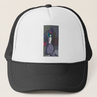 Man in a Tophat Trucker Hat