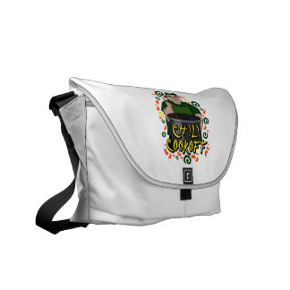 Man in Apron green Chili Cookoff Graphic Messenger Bag