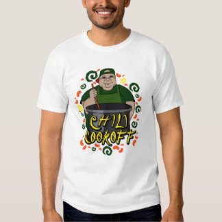 Man in Apron green Chili Cookoff Graphic Shirts