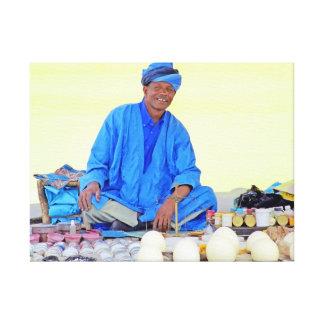 Man in Blue Canvas Print