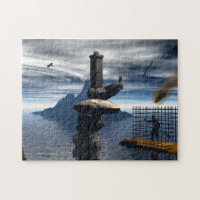 Man in Cage jigsaw Puzzle