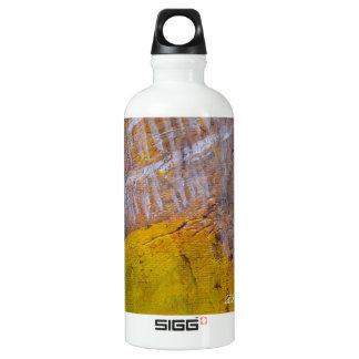Man In Cliff Aluminum Water Bottle