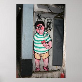 Man in doorway Taipei Poster