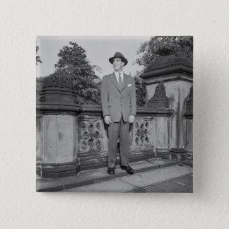 Man in Hat Button