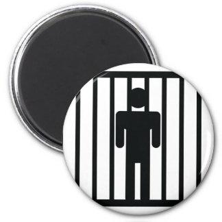 man in jail magnet
