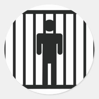 man in jail stickers