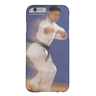 Man in karate stance barely there iPhone 6 case