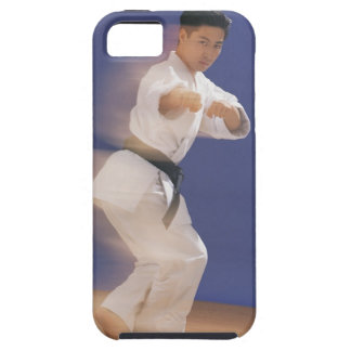 Man in karate stance iPhone SE/5/5s case
