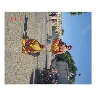 Man in levitation in Avignon Photo Print