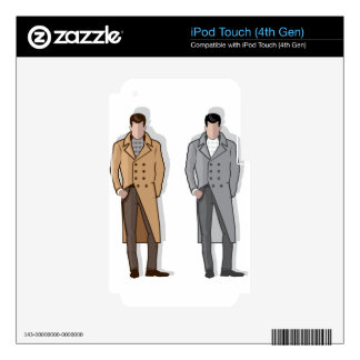 Man in long coat vector decals for iPod touch 4G