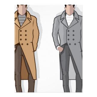 Man in long coat vector letterhead
