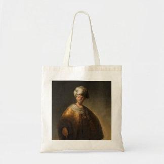 Man in Oriental Costume, by Rembrandt van Rijn Canvas Bag