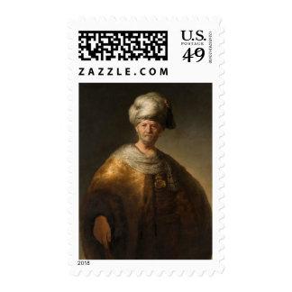 Man in Oriental Costume, by Rembrandt van Rijn Postage Stamps