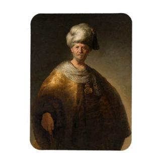 Man in Oriental Costume, by Rembrandt van Rijn Flexible Magnet