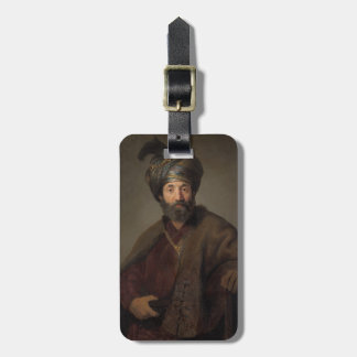 Man in Oriental Costume, c.1635 (oil on canvas) Luggage Tag