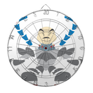 Man in Robot Dart Board