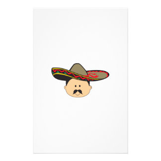MAN IN SOMBRERO PERSONALIZED STATIONERY