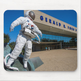 Man In Space Sculpture Mouse Pad