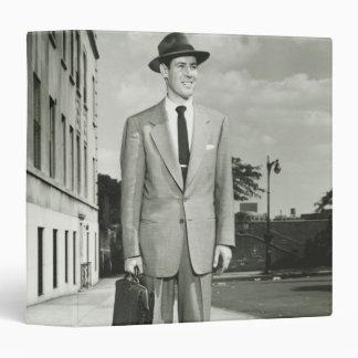 Man in Suit 3 Ring Binder