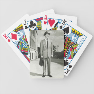 Man in Suit Bicycle Playing Cards