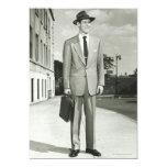 Man in Suit Personalized Invitations