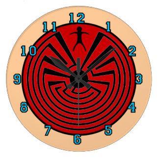 Man In The Maze Round Clocks