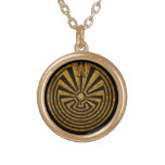 Man in the Maze, Journey through life, I'itoi, Round Pendant Necklace