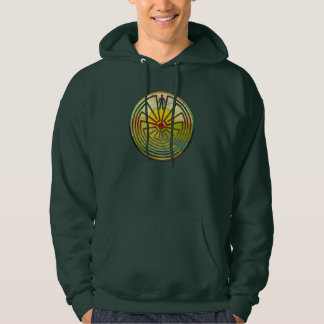 MAN IN THE MAZE landscape + your background Hoodie