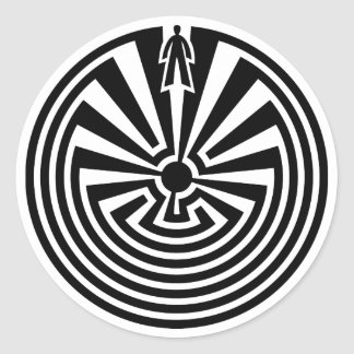 Man in the Maze, Native Americans, Itoi, Papago Classic Round Sticker