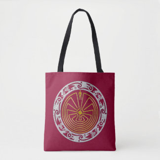 MAN IN THE MAZE ornaments gold silver Tote Bag