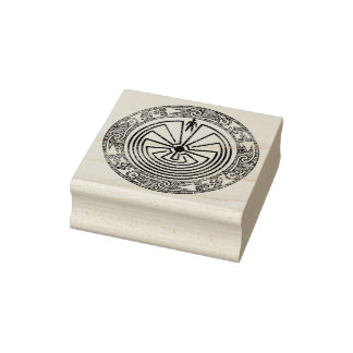 MAN IN THE MAZE - ornaments ring Rubber Stamp