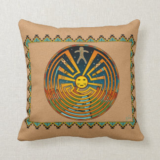 Man In The Maze Pillows