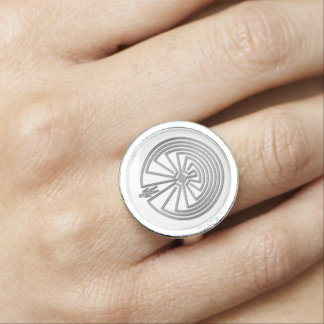 MAN IN THE MAZE silver Photo Rings