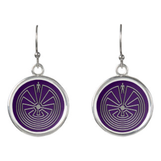 MAN IN THE MAZE silver + your background Earrings