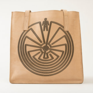 MAN IN THE MAZE silver + your background Tote
