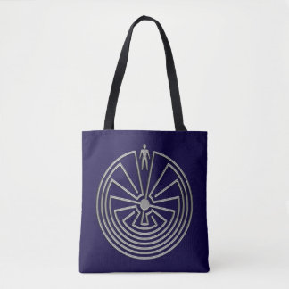 MAN IN THE MAZE silver + your background Tote Bag