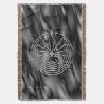 MAN IN THE MAZE  silver + your background Throw Blanket