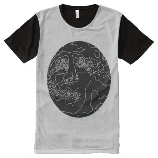 man in the moon All-Over-Print shirt