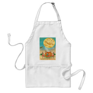 Man In The Moon Bat Witch Jack O Lantern Adult Apron