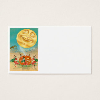 Man In The Moon Bat Witch Jack O Lantern Business Card