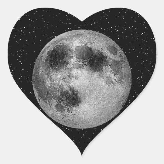 Man in the Moon - Muliple Products2 Heart Sticker