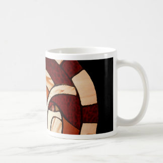 Man in the Moon Stained Glass Black Night Mug