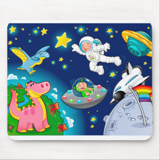 Man in the space. mouse pad