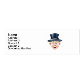 Man in top hat cartoon business card